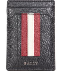 bally hammered leather card holder