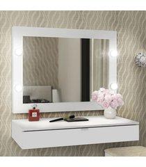 penteadeira suspensa branco - tecno mobili