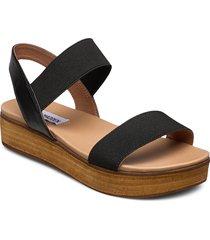 agile sandal shoes summer shoes flat sandals svart steve madden