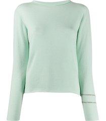 fabiana filippi boat-neck sweater - green