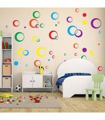 adesivo de parede quartinhos arcos coloridos