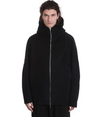 attachment casual jacket in black wool