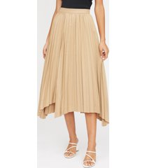 lucy paris avery pleated asymmetrical-hem skirt