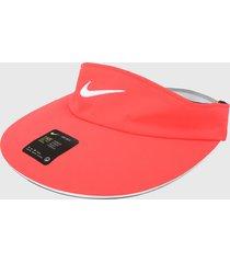 gorras, gorros y sombreros golf nike w nk arobill visor stmt laser crimson/(white)