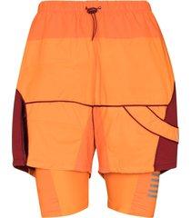 robyn lynch x rapha hybrid 2-in-1 shorts - orange