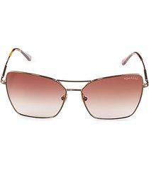 61mm square browline sunglasses