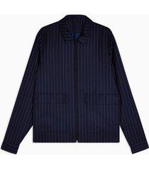 mens navy smart stripe zip jacket