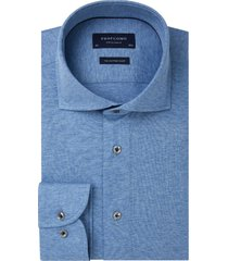 profuomo overhemd knitted blauw single jersey