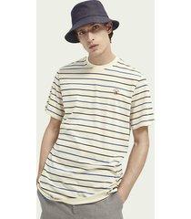 scotch & soda striped regular fit mercerized t-shirt