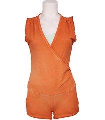 arrette j1094 t801 r212 145 - met jeans - jumpsuits - oranje