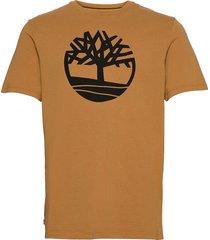 kbec river tree tee t-shirts short-sleeved brun timberland