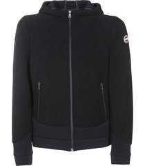 colmar logo patch zip hoodie