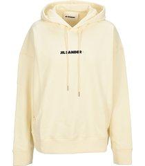 jil sander logo hoodie