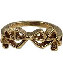 anel papillô joias três laços, em ouro 18k