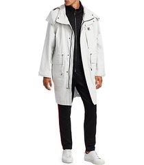 waterproof longline anorak jacket