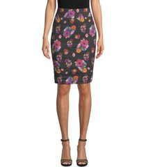 nicole miller ruched jacquard skirt