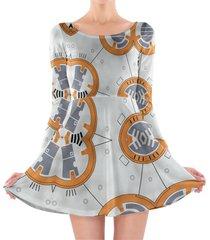little round droid longsleeve skater dress