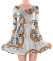 little round droid longsleeve skater dress