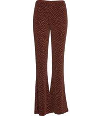 camoua trousers 12821 broek met wijde pijpen bruin samsøe samsøe