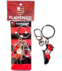 chaveiro flamengo chuteira resina