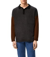 loewe polo sweater in wool and cashmere