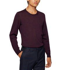 boss men's crewneck wool sweater
