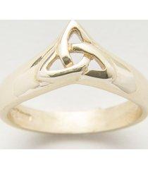 10k gold ladies trinity wishbone ring size 9