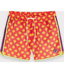 scotch & soda colorful printed swim shorts