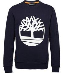 core logo crew bb t-shirts long-sleeved blauw timberland