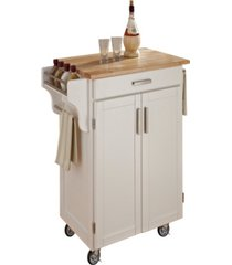 home styles cuisine cart with natural wood top