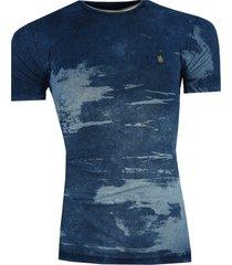 camisa rutra t-shirt estampada azul - azul - masculino - algodã£o - dafiti