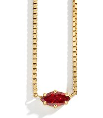 women's baublebar nascita gold vermeil birthstone pendant necklace