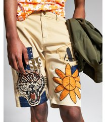 """ouigi theodore for sun + stone men's patch graphic 12"""" shorts, created for macy's"""