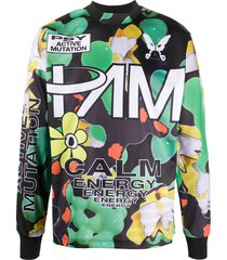 perks and mini particles fall graphic-print sweatshirt - green