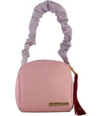 cartera rosada para mujer velute cartera velute-rosado-un