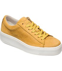 woms lace-up sneakers skor gul tamaris