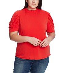 plus size women's cece puff sleeve crepe top