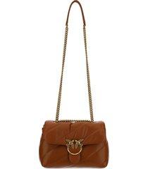 pinko love classic maxi shoulder bag