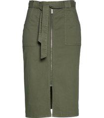 gonna di jeans con cintura da annodare (verde) - bpc selection