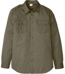 camicia a maniche lunghe con spalline (verde) - john baner jeanswear