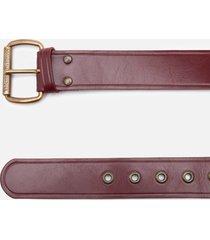 vivienne westwood women's alex belt - oxi bronze vino leather