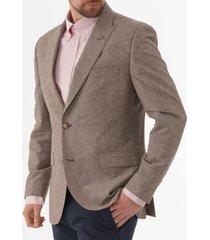 gibson linen jacket - stone g19117tgj
