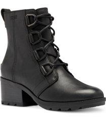 sorel women's cate waterproof lace-up booties women's shoes