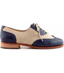 zapato azul briganti mujer bamba