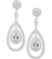 anne klein crystal and pave orbital drop earrings