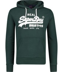 superdry trui capuchon donkergroen