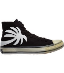 scarpe sneakers alte uomo in pelle palm tree