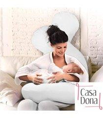 travesseiro de corpo para gestantes abraço em formato de u casa dona branco