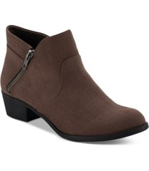 sun + stone abby double zip booties, created for macy's women's shoes