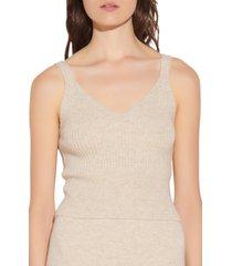 women's sandro ribbed wool sweater tank, size 1 - beige